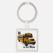B_is_Bus Square Keychain