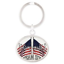 Navy seals team six Oval Keychain