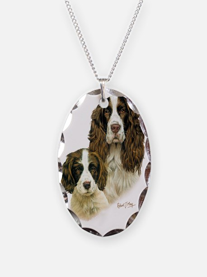 Eng Springer  Pup Necklace