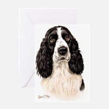 Eng Springer B  W Greeting Card