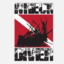 WREAK DIVER WHITE Postcards (Package of 8)