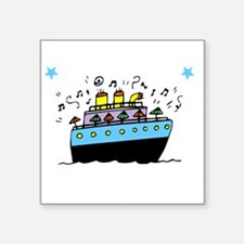 "Love Cruising -dk Square Sticker 3"" x 3"""