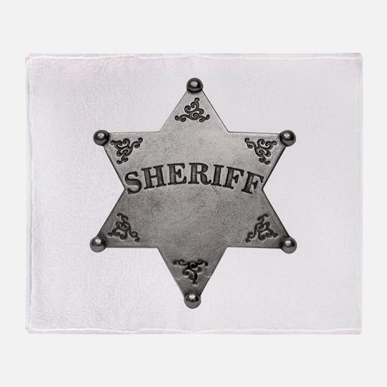 Sheriff Badge Throw Blanket