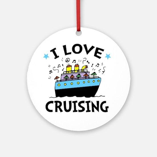Love Cruising Round Ornament