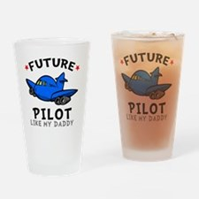 Pilot Daddy Drinking Glass