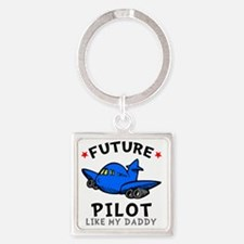 Pilot Daddy Square Keychain