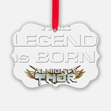 Shirt Front Legend Logo Ornament