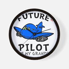 Pilot Grandpa Wall Clock