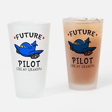 Pilot Grandpa Drinking Glass