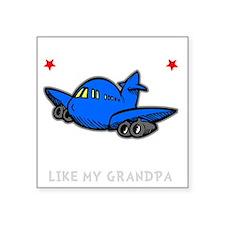 """Pilot Grandpa -dk Square Sticker 3"""" x 3"""""""
