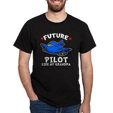 Pilot Grandpa -dk T-Shirt