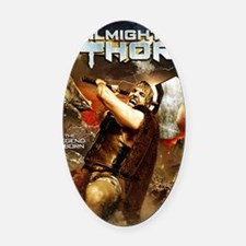 Poster_ThorA Oval Car Magnet