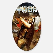 Poster_ThorA Sticker (Oval)