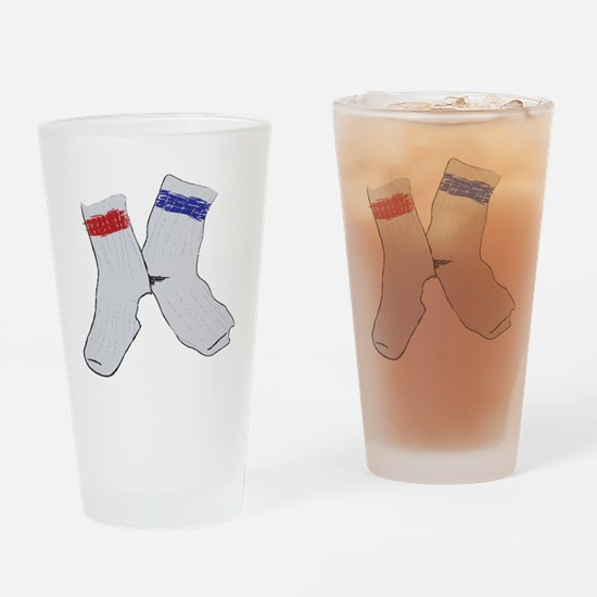 Holey socks centered Drinking Glass