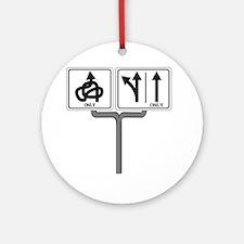 Which way 10x10 Round Ornament