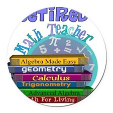 Retired Math Teacher Blue 2011 Round Car Magnet