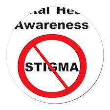 No Stigma Round Car Magnet