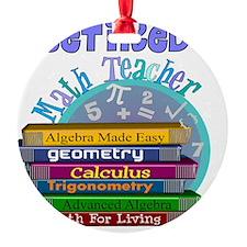 Retired Math Teacher Blue 2011 Ornament
