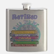Retired Math Teacher Blue 2011 Flask