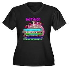 Retired Math Women's Plus Size Dark V-Neck T-Shirt