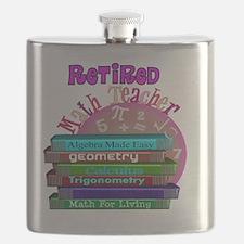 Retired Math Teacher PINK 2011 Flask