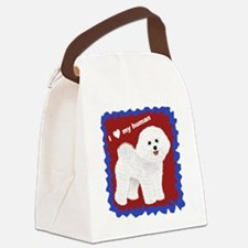 Bichon for book.gif Canvas Lunch Bag