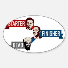 bush-obama-osama Decal