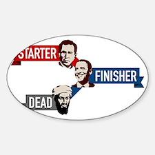 bush-obama-osama Sticker (Oval)