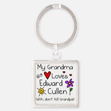 Gma Loves Ed Shh Square Keychain