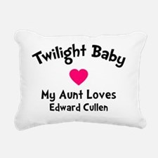 TwiBaby Heart Aunt Rectangular Canvas Pillow