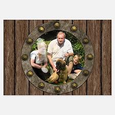 Customizable porthole framed photo Invitations