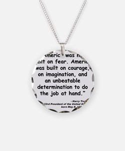 Truman Courage Quote Necklace
