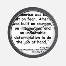Truman Courage Quote Wall Clock
