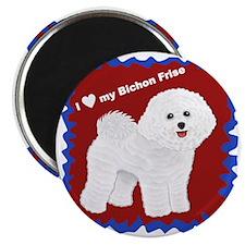 I love my Bichon Frise.gif Magnet