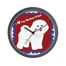 I love my Bichon Frise.gif Wall Clock