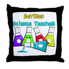 Retired Science Teacher Beekers 2011  Throw Pillow