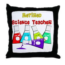 retired science teacher 3 2011 Throw Pillow