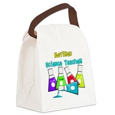 Retired Science Teacher Beekers 2 Canvas Lunch Bag