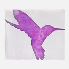 Hummingbird Art Throw Blanket