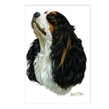 Cavalier Tri Postcards (Package of 8)