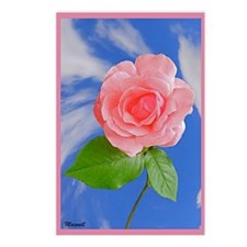 Queen Elizabeth Pink Rose Postcards (Package of 8)