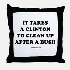 It takes a Clinton to clean up after a Bush Throw