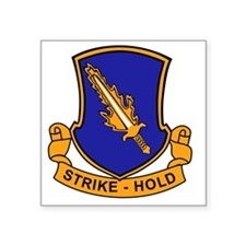 """504th Parachute Infantry Re Square Sticker 3"""" x 3"""""""