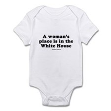 A woman's place is in the White House Onesie