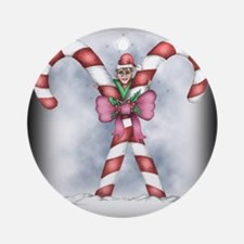 Playful Elf 2b Round Ornament