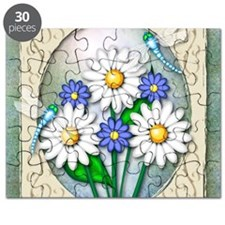 Dragonflies and Daisies square Puzzle