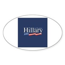 Hillary for President Oval Decal