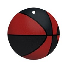 Ball-Basketball-Red-Black-001.png Ornament (Round)