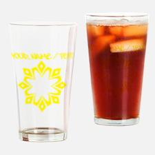 Yellow Snowflake Drinking Glass
