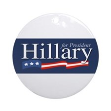 Hillary for President Poster Ornament (Round)
